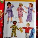 Simplicity Pattern # 3584 UNCUT Toddler Pajamas Robe Size 1/2 1 2 3 4