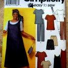 Simplicity Pattern # 9294 UNCUT Misses Dress or Tunic, Jumper Top Pants Shorts Size 18 20 22 24