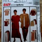 McCalls Pattern # 9222 UNCUT Misses Woman's Unlined Jacket Dress Top Pants Shorts Size 18 20 22