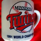 Vintage 1991 Minnesota MN Twins Mug World Champions Team Roster