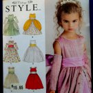 Simplicity Pattern # 1508 UNCUT Girls Flower Girl Dress Size 4 5 6 7 8