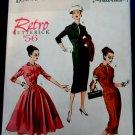 Butterick Pattern # 5813 UNCUT Retro Misses Dress 1956 Mid Century Size 14 16 18 20 22
