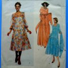 Vogue Pattern # 1894 UNCUT Misses Dress Tiered Skirt Variation Size 10 ONLY Teal Traina