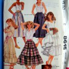 McCalls Pattern # 8615 UNCUT Misses Tiered Skirt Size 14 Waist 28 inches
