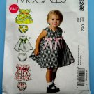 McCalls Pattern # 6268 UNCUT Girls Dress Variations Toddler Size Small Medium Large