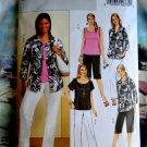 Butterick Pattern # 4819 UNCUT Woman's Top Pants Jacket Size 26 28 30 32