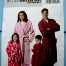 Butterick Pattern # 5724 UNCUT Kids Boys Girls Bathrobe Robe Size 3 4 5 6 7 8