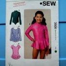 Kwik Sew Pattern # 3508 UNCUT Girls Girls Leotard Skirt Option STRETCH KNITS ONLY Size 8 10 12 14