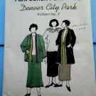Park Bench Pattern # 7 Denver City Park UNCUT Misses Kimono Style Jacket Skirt