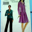 Vogue Pattern # 8133 UNCUT Misses Jacket Skirt Pants Size 8 10 12 14