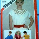 Simplicity Pattern # 6016 UNCUT Misses Summer Blouse Variations Size 10 ONLY