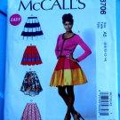 McCalls Pattern # 6706 UNCUT Misses Skirt Variations Petticoat Size 6 8 10 12 14