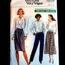 Vogue Pattern # 7677 UNCUT Misses Pants Skirt Variations Size 20 22 24