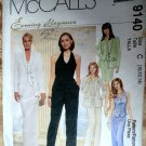 McCalls Pattern # 9140 UNCUT Misses Evening Jacket Vest Pants Size 10 12 14