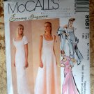 McCalls Pattern # 9681 UNCUT Misses Lined Gown and Scarf Size 10 12 14