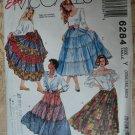 McCalls Pattern #6284 UNCUT Misses Tiered Skirts Size XSM Small Medium