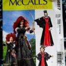 McCalls Pattern # 6817 UNCUT Kids Costume Dress Size 3-4 5-6 7-8