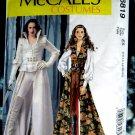 McCalls Pattern # 6819 UNCUT Misses Costume Steampunk Goth Coat Cape Corset Size 14 16 18 20 22