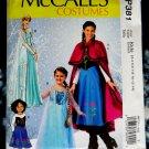 McCalls Pattern # P 381 UNCUT Girls Costume Winter Princess Size 3-4 5-6 7-8 10-12 14