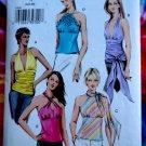 Vogue Pattern # 8081 UNCUT Misses Summer Blouse/Top Halter Size 6 8 10