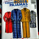 Pletsch Pattern UNCUT Teen Adult Kimono Robe Pajamas Small Medium Large XL