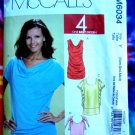 McCalls Pattern # 6034 UNCUT Top Blouse STRETCH KNITS Size XS (extra small), Small and Medium