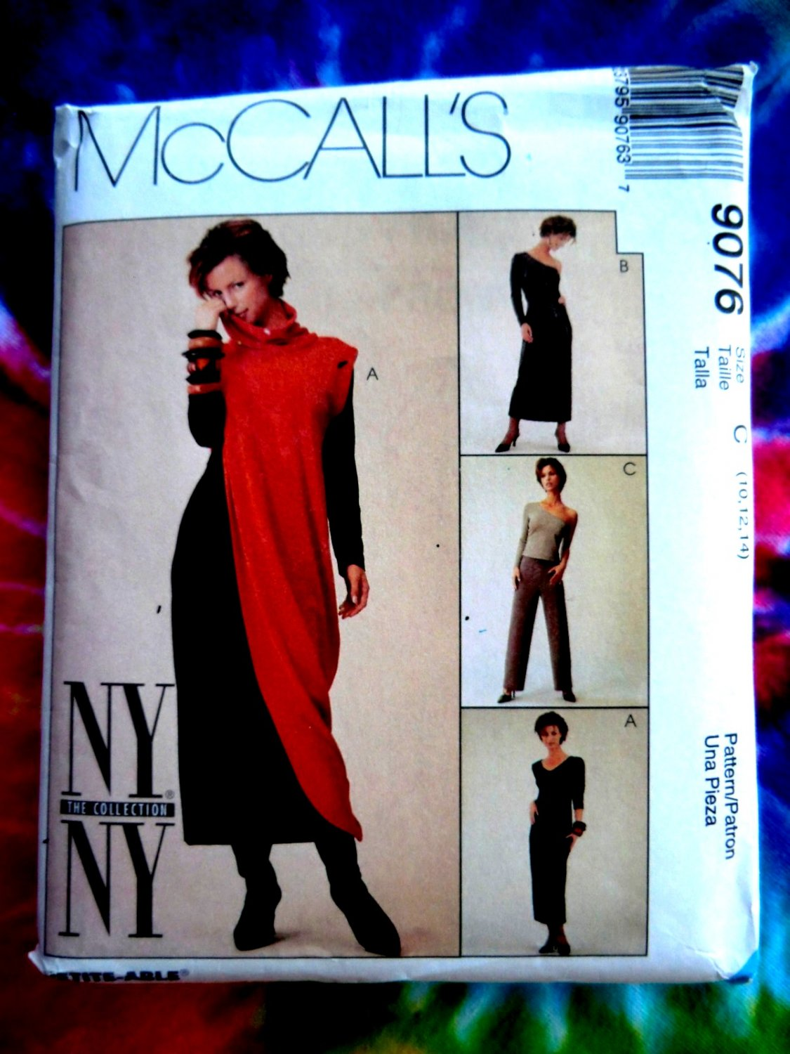 McCalls Pattern # 9076 UNCUT Misses Dress Pants Top Tunic STRETCH KNITS ONLY Size 10 12 14