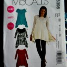 McCalls Pattern # 6398 UNCUT Misses Tunic Variations STRETCH KNITS ONLY Size 8 10 12 14 16