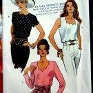 Vogue Pattern # 8574 UNCUT Misses Top Sleeve Variations Size 12 14 16