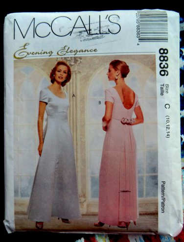 4fc165b1c4492 McCalls Pattern # 8836 UNCUT Misses Special Occasion Long Dress ...