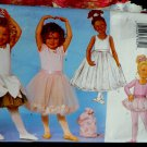 Butterick Pattern # 6660 UNCUT Girls Ballet Ballerina Leotard Tule Skirt Bag Size 2 3 4 5