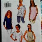 Butterick Pattern # 3383 UNCUT Misses Top Variations Size Large XL