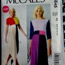 McCalls Pattern # 6645 UNCUT Misses Dress Shaped Hemline Size 6 8 10 12 14