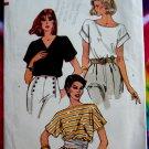 Vogue Pattern # 8253 UNCUT Misses Summer Blouse Size 8 / 10 Small Bust 31 ½ 32 ½