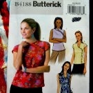 Butterick Pattern # 4188 UNCUT Misses Top Sleeve Neckline Variations Size 18 20 22