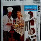 McCalls Pattern # 2233 UNCUT Chef /Cook Uniform Hat Apron ~ Size SMALL Adult