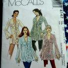 McCalls Pattern # 4147 UNCUT Misses Ruffled Blouse Size 12 14 16 18