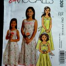 McCalls Pattern # 5309 UNCUT Girls Special Occasion Dress Size 7 8 10 12 14