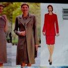 Butterick Pattern # 6262 UNCUT Misses Long Jacket Dress Size 14 16 18