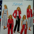 Butterick Pattern #4467 UNCUT Misses Easy Wardrobe Jacket Skirt Pants Top Sash Size 16 18 20 22