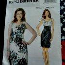McCalls Pattern # 5752 UNCUT Misses Dress by Maggy London Size 6 8 10 12 14