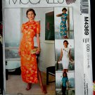 McCalls Pattern # 4369 UNCUT Misses Top or Dress Mandarin neckline Skirt Sizes 10 12 14 16
