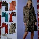 Simplicity Pattern # 4014 UNCUT Misses Dress ~ Long Sleeve Coat Jacket Size 20 22 24 26 28