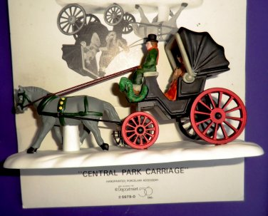 Department 56 Heritage Village Central Park Carriage Horse and Buggy CHRISTMAS NYC
