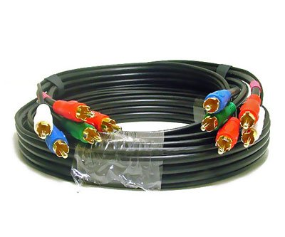 5-Component Audio/Video Cable, Gold Plated RCA Connectors, 12 feet, $10.90