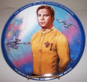 "Star Trek ""Captain Kirk"" 1983 Hamilton Collection Plate"