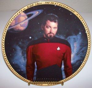 "Star Trek Next Generation ""Commander Riker"" 1993 Hamilton Collection Plate"