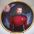 "Star Trek Next Generation ""Commander Riker"" 1993 Hamilton Collection Plate"