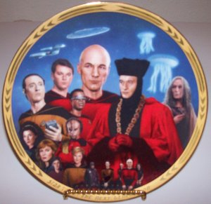 "Set of 2 Star Trek Next Generation ""Episodes"" 1994 Hamilton Collection Plates"