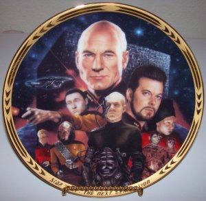 """Star Trek Next Generation """"Episodes-Best of Both Worlds"""" 1994 Hamilton Collection Plate"""